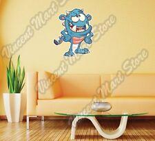 """Cute Blue Monster Kids Cartoon Gift Wall Sticker Room Interior Decor 20""""X25"""""""