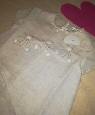 Bellissimo vestito per bambina  4 anni papermoon lino nuovo con etichetta