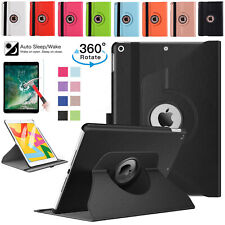"""For Apple iPad 10.2"""" 7th Gen 2019 Leather Stand Folio 360 Rotating Smart Case"""