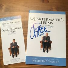 Rowan Atkinson hand signed autograph on UK theatre programme IP