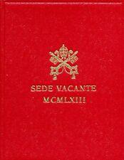 1963 VATICANO SEDE VACANTE 500 LIRE ARGENTO Ag FOLDER FDC