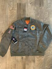Nike Green Bay Packers Salute to Service At7871-222 Womens USA 2019 Jacket LG