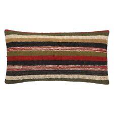 "30x60"" Wool Jute Cushion Cover Indian Kilim Rectangle Pillow Sofa Sham Bohemian"