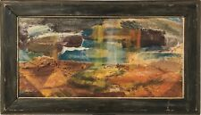 Mid-Century Abstract Landscape Painting, Oil on Canvas Framed, 1956 $250
