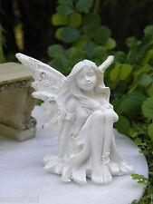 Miniature Dollhouse FAIRY GARDEN ~ White Glitter CARE Sparkle Stone Fairy ~ NEW