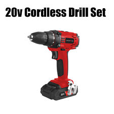 Cougrtec 20v Cordless Lithium-ion Drill Kit incl Battery and Charger