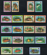 TUVALU 1981 FISH OVERPRINTED OFFICIAL