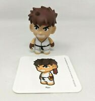 Loose Kidrobot x Street Fighter Series 1 White Ryu Capcom Vinyl Figure FP20