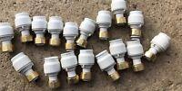 Joblotot 17x JOHN GUEST JG SPEEDFIT 22mm X 3/4bsp TAP CONNECTORS Brass
