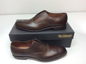 Allen Edmonds Park Avenue Cap-Toe Dark Brown Dress Shoe Men's Size 11.5 A Narrow