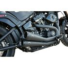 S&S Cycle Black Grand National 2-into-2 Exhaust System for 18-20 Softail