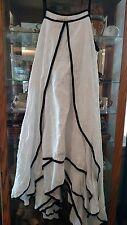 CYNTHIA ASHBY WHITE EMBROIDERED MAXI DRESS OSFM