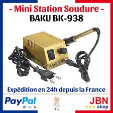 BK-938 Mini Soldering Station Rework Poste Soudure Fer à souder BAKU BK938 CMS