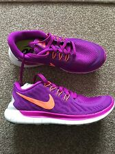 New Women's Nike Free 5.0 Trainers Purple Orange Size UK 3.5