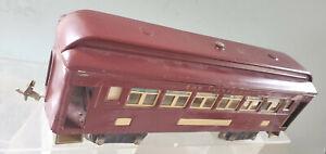 Lionel 319 Pullman Passenger Car 100 Series Truck Restored Maroon Paint 1925- 27