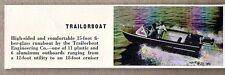 1959 Magazine Photo Trailorboat 15 Ft Fiberglass Runabout Boats
