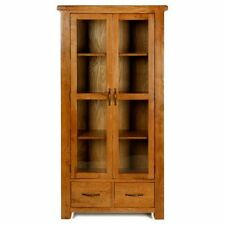 More than 200cm High Oak Traditional Display Cabinets