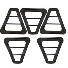 Plastica Nero Doppio Barretta Triangolo Aggiustatore Fibbia Cinghia Per Zaini