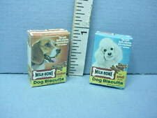 Dollhouse Miniature Dog Biscuits (2) Boxes Only Fa40189 Faroe Ind 1/12th Scale