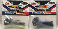 (2) Z-Man Jack Hammer 1/2oz Tungsten Bite Delight & Black/Blue F9