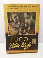 TUCO Vintage Puzzle Mischievous Kittens Smaller Tuco 200 Piece Missing 1 CUTE!