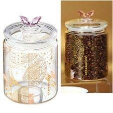 RARE 2019 Starbucks Korea New Year Gold Flying Pig Wing Glass Jar Canister 735ml