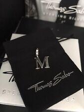 "Original Thomas Sabo ""Letra M 'Encanto Colgante RRP £ 29 diseño actual Con Bolsa De Regalo"