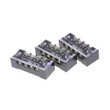 3Pcs TB-1504 4 Positions Double Rangées Vis Bornier 600V 15A Pipette LC