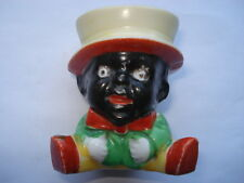C1920S VINTAGE BLACK AMERICANA CHARACTER CHINA EGG CUP