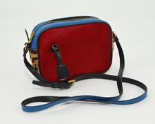 J.CREW $298 ITALIAN LEATHER SIGNET BAG COLORBLOCK CALF HAIR  PURSE F5234