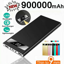 Ultrathin Portable Power Bank 900000mAh LED External Battery Fast Charger Backup