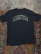 NEW Fanatics Branded Vault Georgetown Hoyas Soft Tri Blend T Shirt - L (navy)