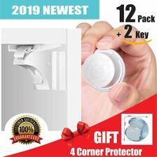 14 Pcs! Magnetic Cabinet Locks Safety Baby Set 12 locks + 2 keys Child Proof Kit