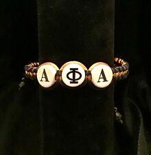 Divine Nine Inspired Alpha  Shamballa Styled Classic Bracelet- Black And Gold