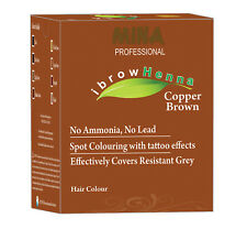 Mina Ibrow Henna Copper brown Refill Pack & Tinting Kit