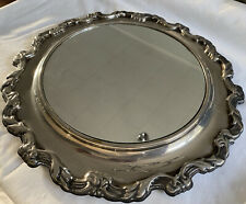 International Silver Company Round Table Vanity Mirror Plateau 13.25""