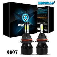 2 x 9007 HB5 LED Headlight Conversion Kit 1700W 4 Side High Low Beam Bulbs 6500K