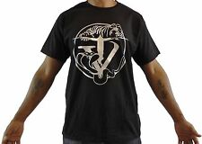black, hip-hop, tijger/slang, t-shirt with TYGER VINUM silver logo - men