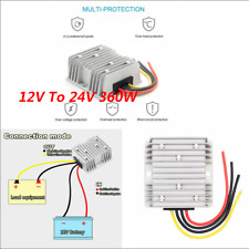 Waterproof DC 12V Step-up to 24V 15A 360W Boost Converter Regulator Universal