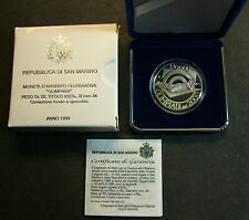 1999  San Marino Lire 10000 Olimpiadi del 2000  Proof Original Box Coa
