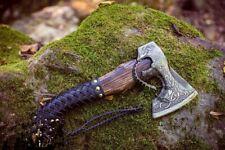 Forged VIKING AXE Custom Handmade CARBON STEEL Tomahawk AXE with FREE SHEATH
