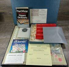 Vtg 1954 Scrabble Deluxe Edition W/Scoring Pins Plastic Tiles & Racks ROTATES