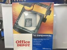 NEW Office Depot Black And White Copier Transparencies 100 Sheets Item # 337-810