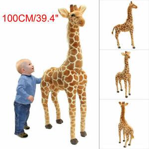 1M Giraffe Plush Doll Stand Large Cotton Animal Soft Stuffed Toy Kid Gift Stock