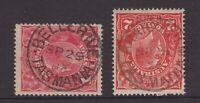 Tasmania nice BELLERIVE & BRANXHOLM postmarks on KGV 1½d piece