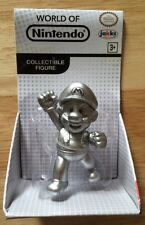 "World Of Nintendo 2.5"" Figure SILVER METAL SUPER MARIO Bros NEW Jakks Pacific"