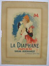 Jules Chéret (1836-1932) LA DIAPHANE LITHOGRAPHIE Maitres de l'Affiche 1890