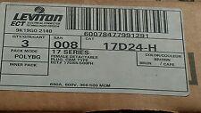 LEVITON BROWN ECT 17 SERIES FEMALE CAM PLUG 17D24-H   Box of 3