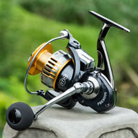 UK_ 17BB Fishing Reel Spinning Metal Spool Reels Ball Bearings High Speed Bland