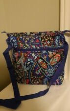 VERA BRADLEY petite paisley nylon crossbody bag purse  zip colorful EUC!